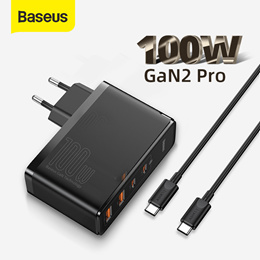 Baseus GaN Charger 100W USB Type C PD Fast Charger with Quick Charge 4.0 3.0 USB Phone Charger