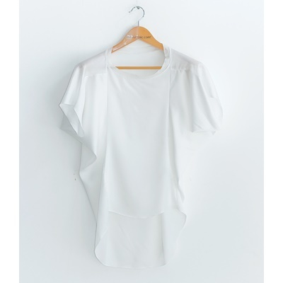 33. loose silky blouse - ivory - free