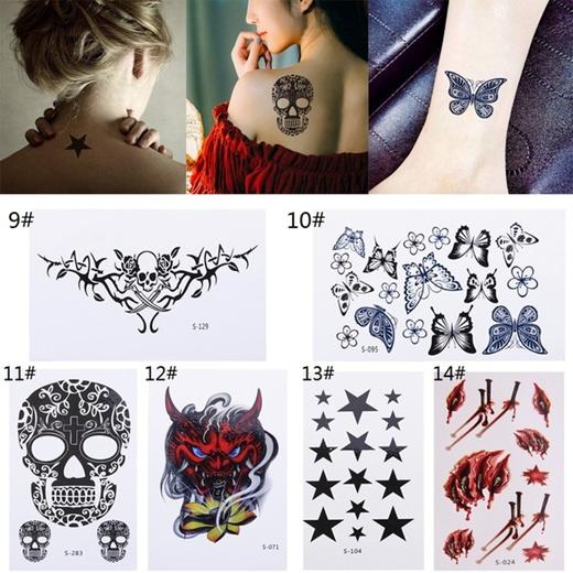 Qoo10 10 Sheets Temporary Tattoo Stickers Waterproof Body Art Decor Skin Care
