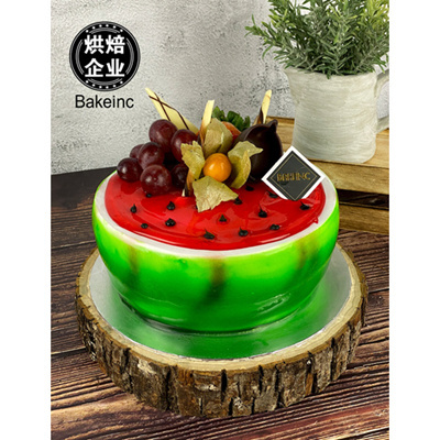 Watermelon Cake (7inch) | Strawberry-Choco Flavour
