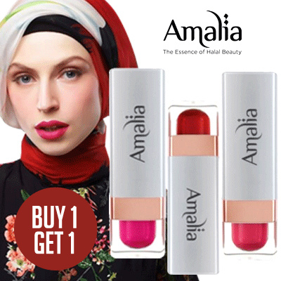 BUY 1 GET 1! Amalia Satin Lipstick Saffron Lips All Variant Deals for only Rp95.000 instead of Rp139.706
