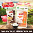 PaddyKing Thai New Crop Jasmine Rice 5KG ( Softer and More Fragrant Grains )