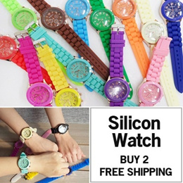 BUY2 FREE SHIPPING/SILICON WATCHES/Vintage Watch/BIG SALE!!/Hand made/women watch/Unisex/Leather watch