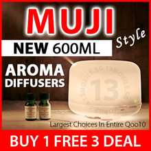 FREE Essential Oil ★ MUJI Style Aromatherapy Aroma Essential Oil Diffuser Ultrasonic Waves Mist
