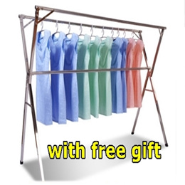 Hotstuff/Folding Stainless Steel Clothes Rack free gift for self collection/blanket/Laundry /Hanger/