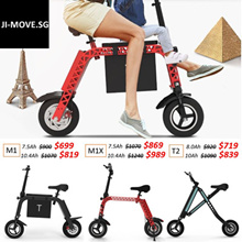 JI-MOVE★ LTA Approved ★Electric Scooter Foldable Bike★12 Months Local Warranty