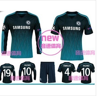 save off 5e5f9 e7b7b Chelsea Away Jersey 2014 second-sleeved jersey Chelsea Chelsea Champions  League away long-sleeved --