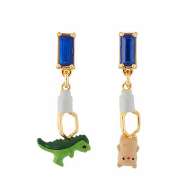 Les Nereides N2 Dinosaur Toy Catcher Earrings