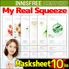 ★Innisfree★[10sheets] My Real Squeeze Mask/Coconut bio