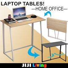 Minimalist Full Foldable Table! ★Computer Table | Utility Tables | Easy Storage  ★E1 Wood