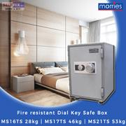 【Morries】Fire resistant Dial Key Safe Box MS16TS 28kg | MS17TS 46kg | MS21TS 53kg