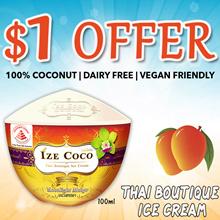 [Ize Coco] Special Promo !Thai Boutique Mango Ice Cream. 100g each.