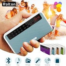 Rolton E500 Portable Multi-function FM Radio Bluetooth Speaker MP3 Player SD Card Slot Recording