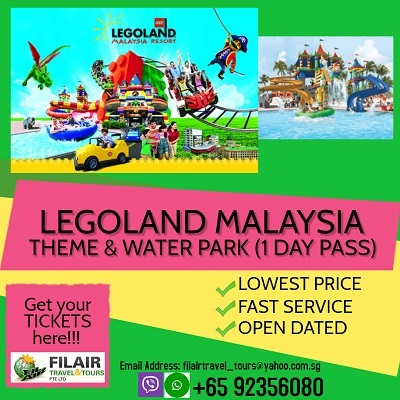 [Fil Air] Legoland Themed Park and Water Park Malaysia -BEST PRICE  GUARANTEE / E-TICKET AVAILABLE