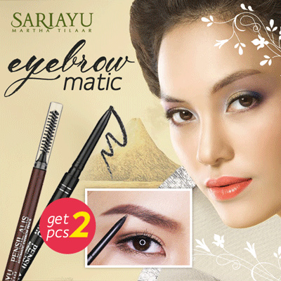 Buy 1 Get 1 Eyebrow matic Rich brown And Black Deals for only Rp85.000 instead of Rp85.000
