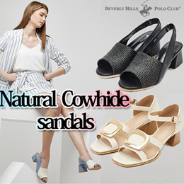 [POLO CLUB] 8 Type Natural cowhide sandals / Women shoes / Super sale