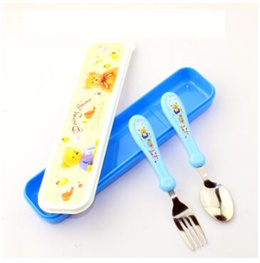 HelloKitty Students portable cutlery box portable chopsticks spoon cutlery box green plastic boxes for children