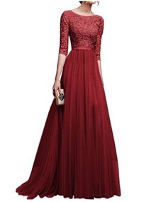 Size S-2XL Luxury Women Long Gown Wedding Evening Dress FH0605