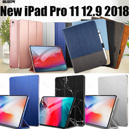 ESR Magnetic Flip Case for iPad Pro 11 2018 12.9 2018 Pro 10.5 New iPad PU Leather Ultra Slim case