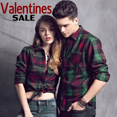 ad01892475 Valentines Couple Shirt Trendy Cowboy Shirt short sleeve SOLID/check  pattern/casual/Girl
