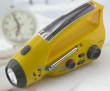 Self-Powered Dynamo Notfall Solar Hand Crank AM/FM Radio mit LED Taschenlampe