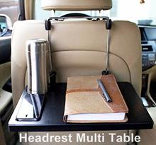 Car Headrest Power steering Multi Table/Car Dining Snack table/Easy simple office work in car