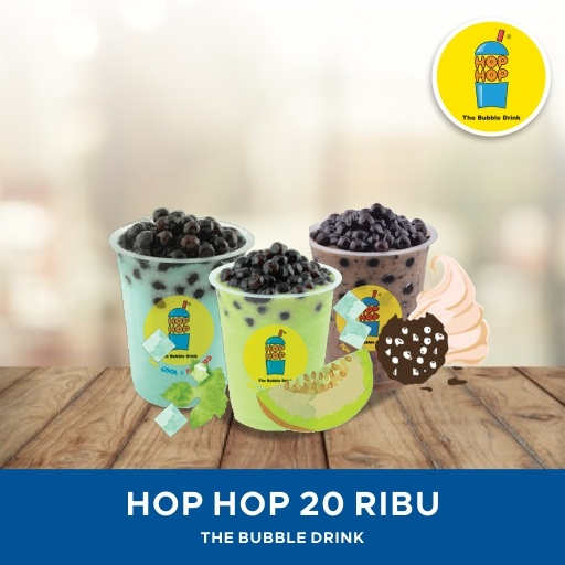 [DRINK] Hop Hop Bubble Drink/ Value E-Voucher/ 20K Deals for only Rp9.500 instead of Rp20.213