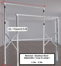 Brand New Extendable Clothes Drying Rack. 3 Types. Extendable Stainless Steel. SG Stock and warranty