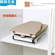 Cloakroom Home Folding Wardrobe Cabinet Ironing Board Hidden Ironing Board Iron Rack Push-Pull Dampi