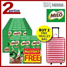 1 Carton 24x200ml MILO UHT Chocolate Malt Packet Drink  [Buy 2 Carton Get Free Trolley]