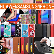HUAWEI P20 P20 Pro Mate10 Case Wallet PU cover Screen Protector Samsung S9 iPhone X 8 7 6 case