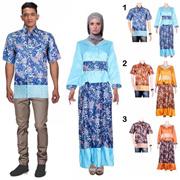 Sarimbit Batik Couple Gamis Permana