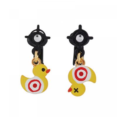 Les Nereides N2 Target Duck Clip On Earrings