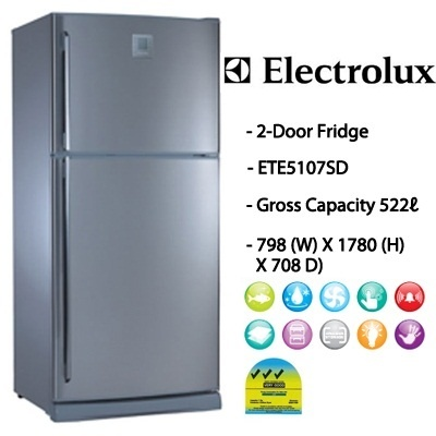 qoo10 ete5107sd electrolux 476l 2 doors nutrifresh refriger home electronics