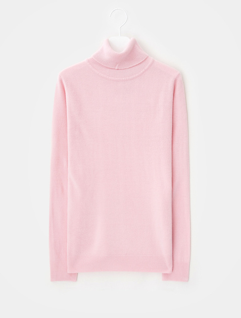 8SECONDS Cash-acrylic Turtle Neck Pullover – Light Pink