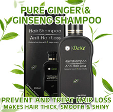 SPECIAL $9.9!! DEXE HERBAL ANTI HAIR LOSS SHAMPOO ✔️ GINSENG GINGER TREETEA OIL ✔️ 200ML