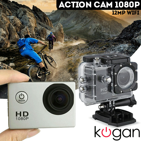 Kogan 12mp Sport Action Camera 1080p WIFI Deals for only Rp400.000 instead of Rp400.000