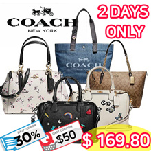 [COACH] ♥2 DAYS♥ Nett price $169.80 with 30% Off + $50 Coupon!!! •• COACH •• Handbag Collections •