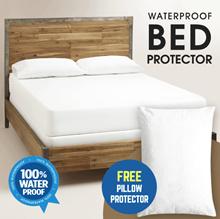 [ 1+1 ] WATERPROOF BED PROTECTOR  + WATERPROOF PILLOW PROTECTOR