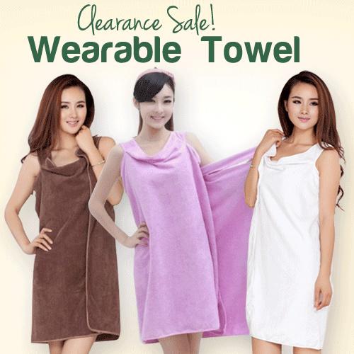 Wearable Towel Baju Handuk Multifungsi mandi santai serap air Deals for only Rp30.000 instead of Rp83.333