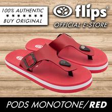 ★RED★[Flips] Pods Sports Sandals/Comfort Sandal/Contoured Footbed/Water Repellent/Sports Sandals