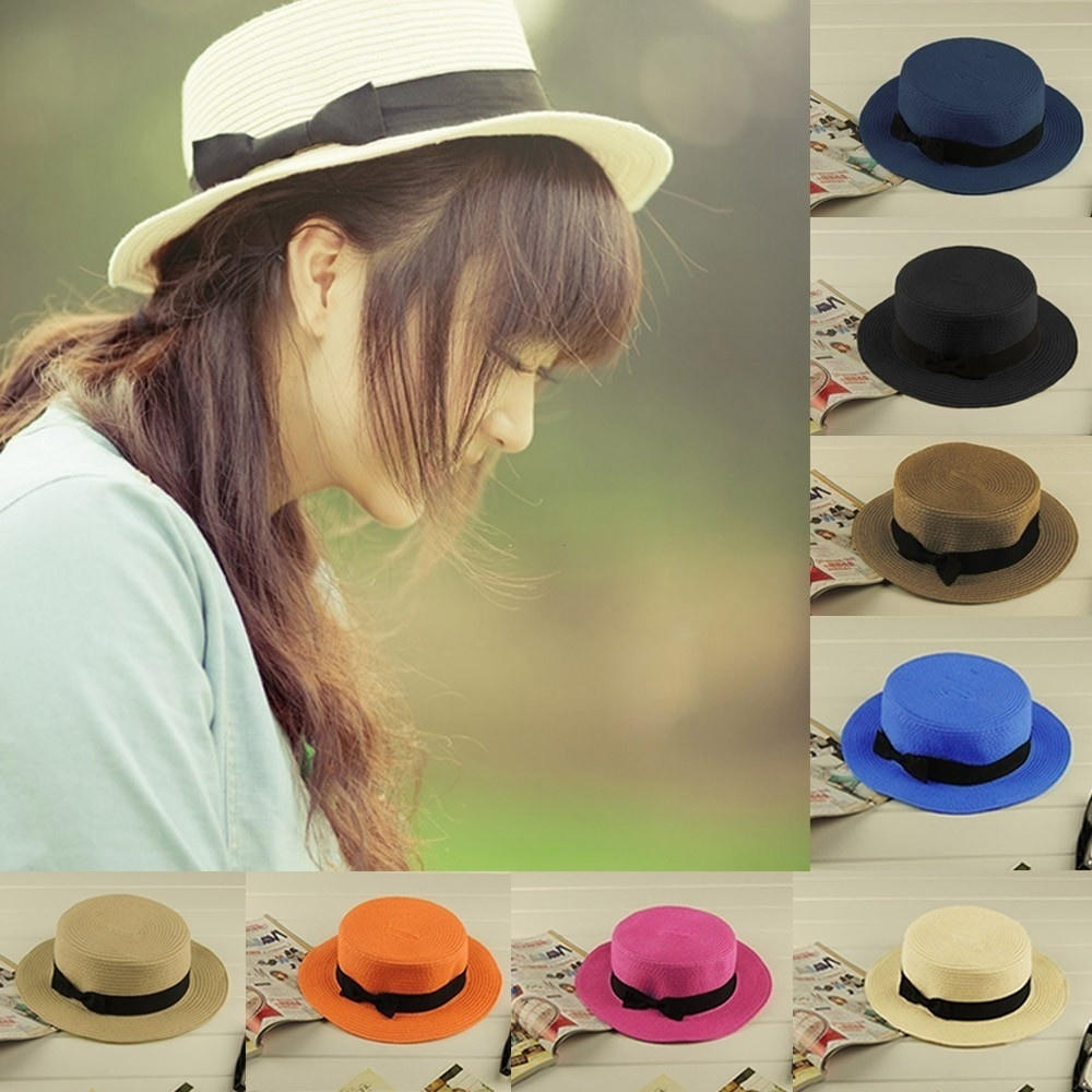 fit to viewer. prev next. SG New Fashion Women Lady Fedora Hat Trilby  Bowknot Straw ... a98cd36f15cb