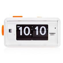 [Twemco] Retro Modern Germany Quartz Movement Alarm Flip Clock Al-30 White