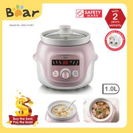 Bear Slow Cooker Digital with Ceramic Pot 1.0L (DDG-D10B1)