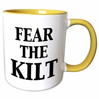 [US$51 60]3dRose EvaDane - Funny Quotes - Fear the kilt - Mugs