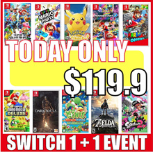 [1+1 Event] Nintendo Switch HIT 12 Games Collection / Super Smash Bros / Party /  Lets Go/ Yoshi