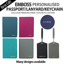 [Helloimd] EMBOSS PASSPORT LANYARD LUGGAGE TAG KEYCHAIN Travel Luggage Customised Personalised GIFT
