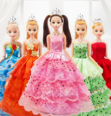 Princess Barbie doll size dolls tiara crown baby girl present gift
