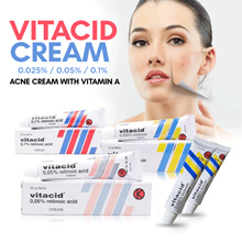 Vitacid 0.1 _ 0.025 _ 0.05 Acne Cream with Vitamin A_Skincare Cream for Antiaging Acne Wrinkles