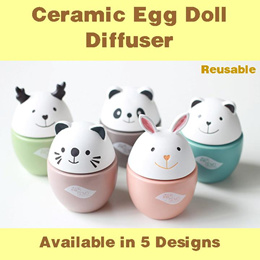 Ceramic Egg Doll Diffuser Reed Diffuser Essential Oil Aromatherapy Fragrance Oil Aroma Oil Perfume